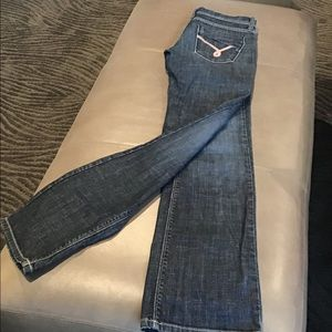 James Jeans Neo Wenge boot cut med wash 27 EUC